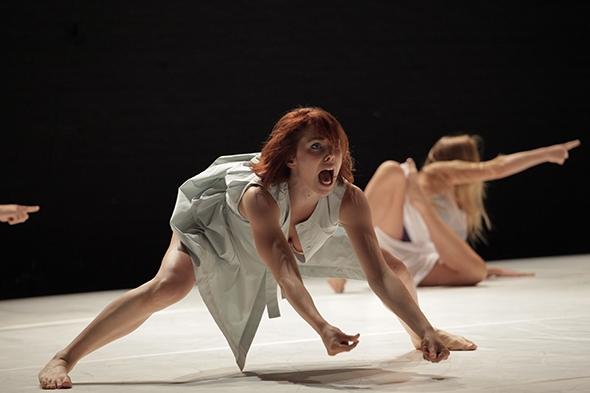 Going for broke: Laura Lorenzi in Igor and Moreno's Wolves will be watching (photo: Stephen Berkeley-White)