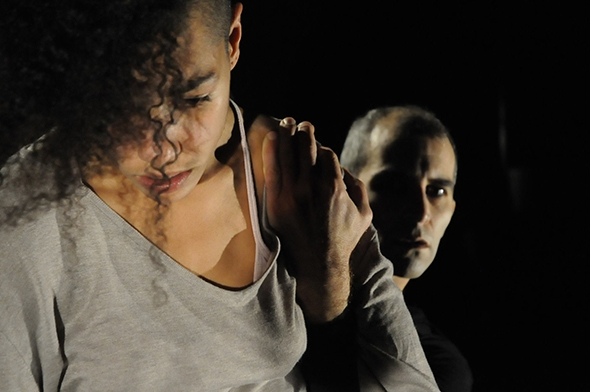 Maëva Berthelot and Omar Gordon in Neus Gil Cortés' Left (photo: Patricio Forrester)