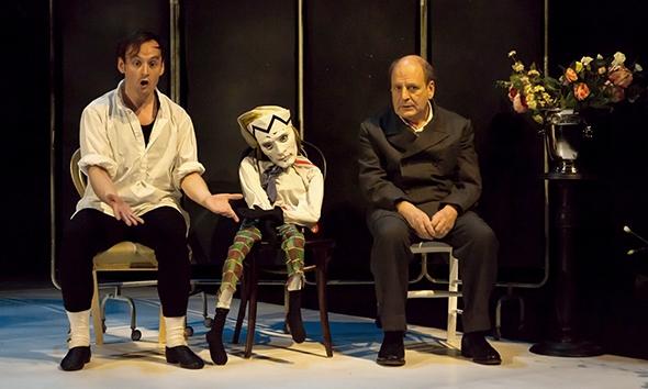 Darren Brownlie, Petrushka and James Bryce in Nijinsky's Last Jump (photo: Maria Falconer)