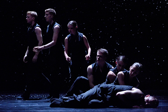 Artists of Ballet BC in Crystal Pite's Solo Echo (photo: Michael Slobodian)