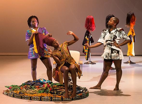 Habibat Ajayi, Shelia Attah & Shanelle Clemenson in Uchenna Dance's The Head Wrap Diaries (photo © Foteini Christofilopoulou)